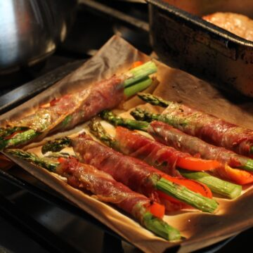 Asparagus and Red Pepper Bundles