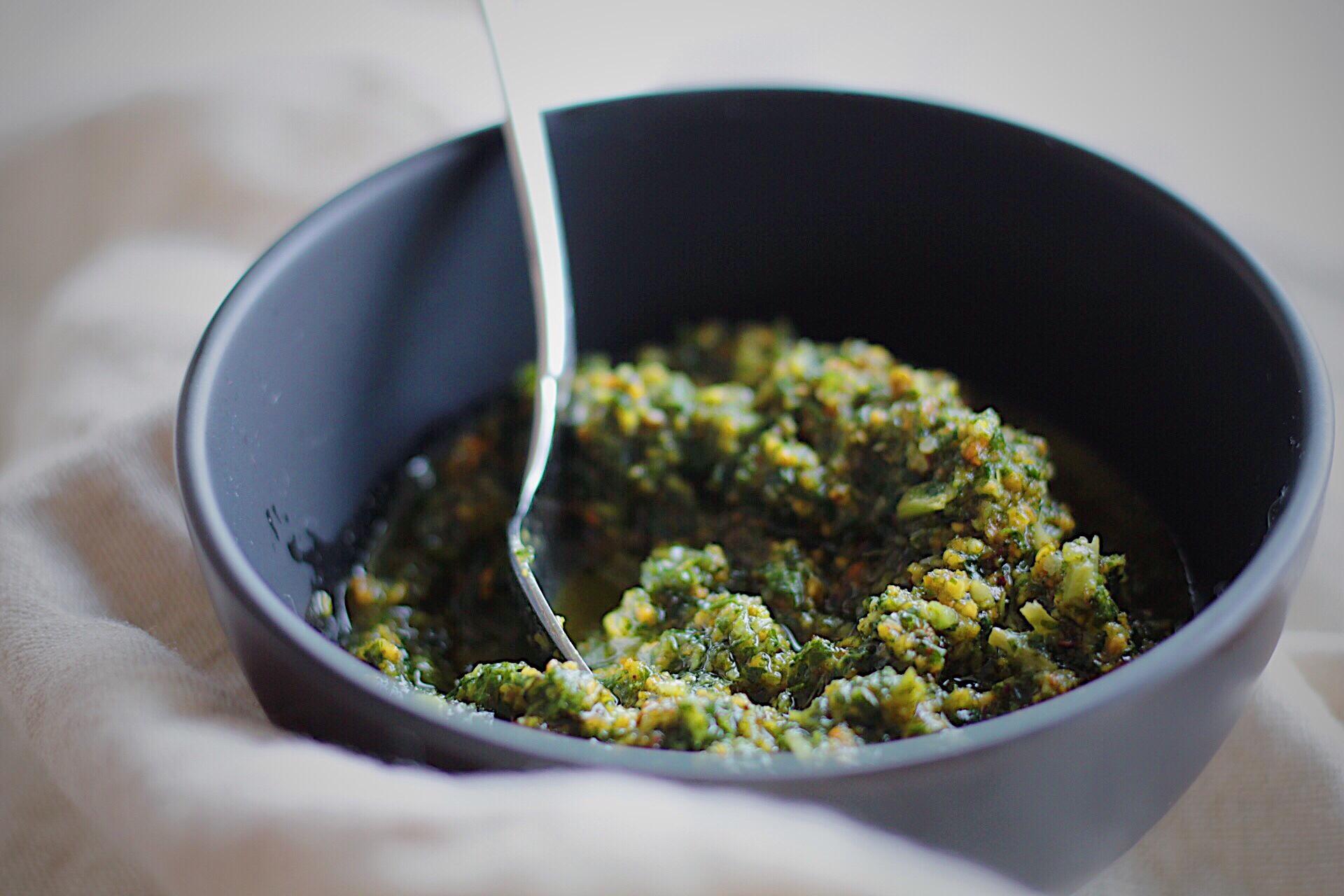 Mint Basil Pistachio Pesto vegan and gluten free