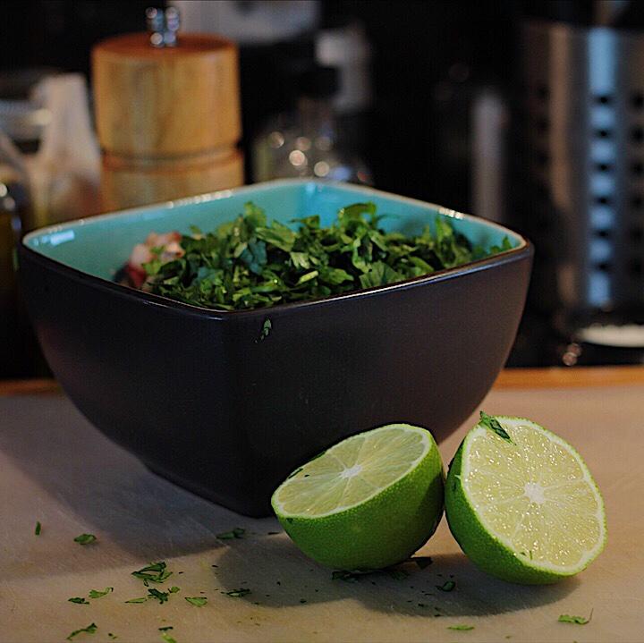 Adding Lime to Salsa