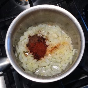 Onions and Spices for Homemade Ketchup