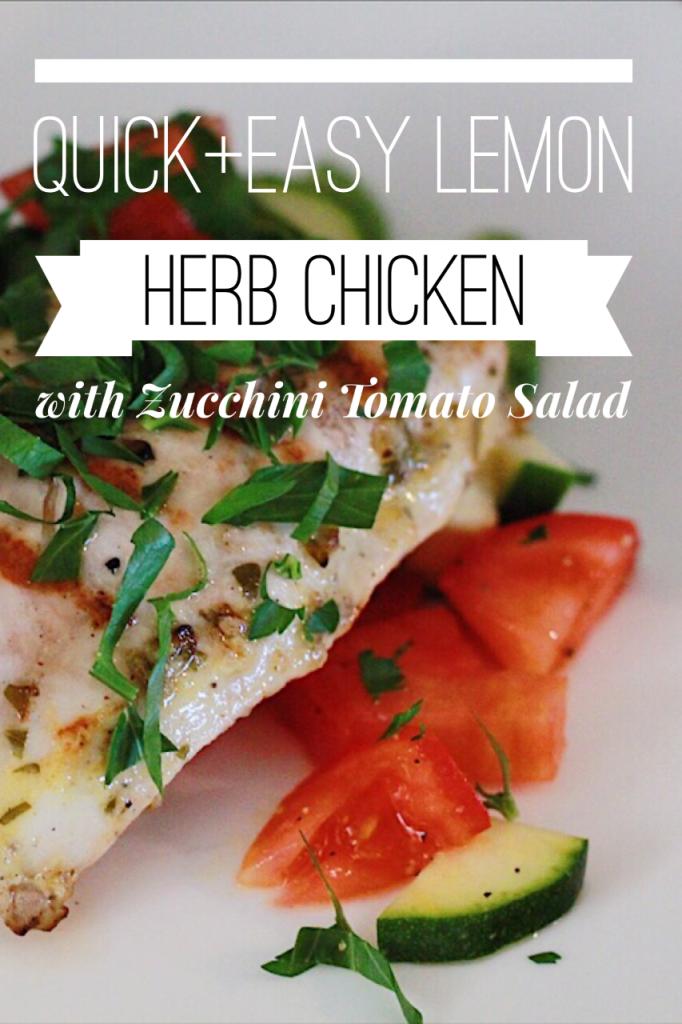 Zucchini Tomato Salad Lemon Chicken