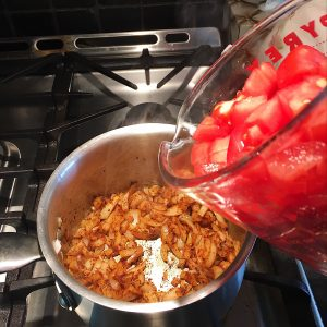 Add Tomatoes and Peppers