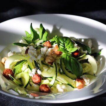 Zucchini Hazelnut Salad