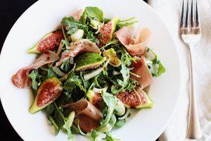Fresh Figs, Prosciutto, Fennel and Arugula Salad
