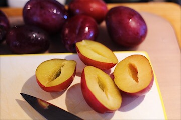 Pitting Plums for Dessert