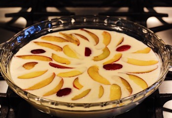 Clafoutis Batter with Italian Plums
