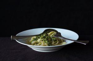 Fettuccine With Sorrel Pesto