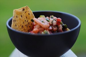 Mexican Shrimp Cocktail With Tortilla Chips