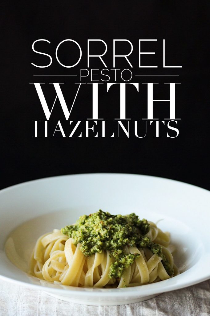 Easy Vegetarian Sorrel And Hazelnut Pesto