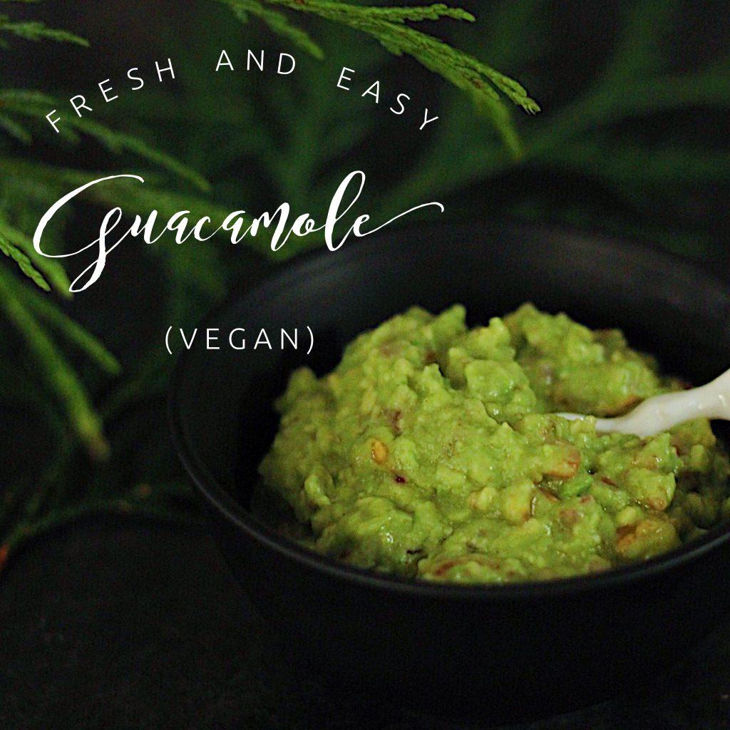 Vegan 5 ingredient guacamole recipe