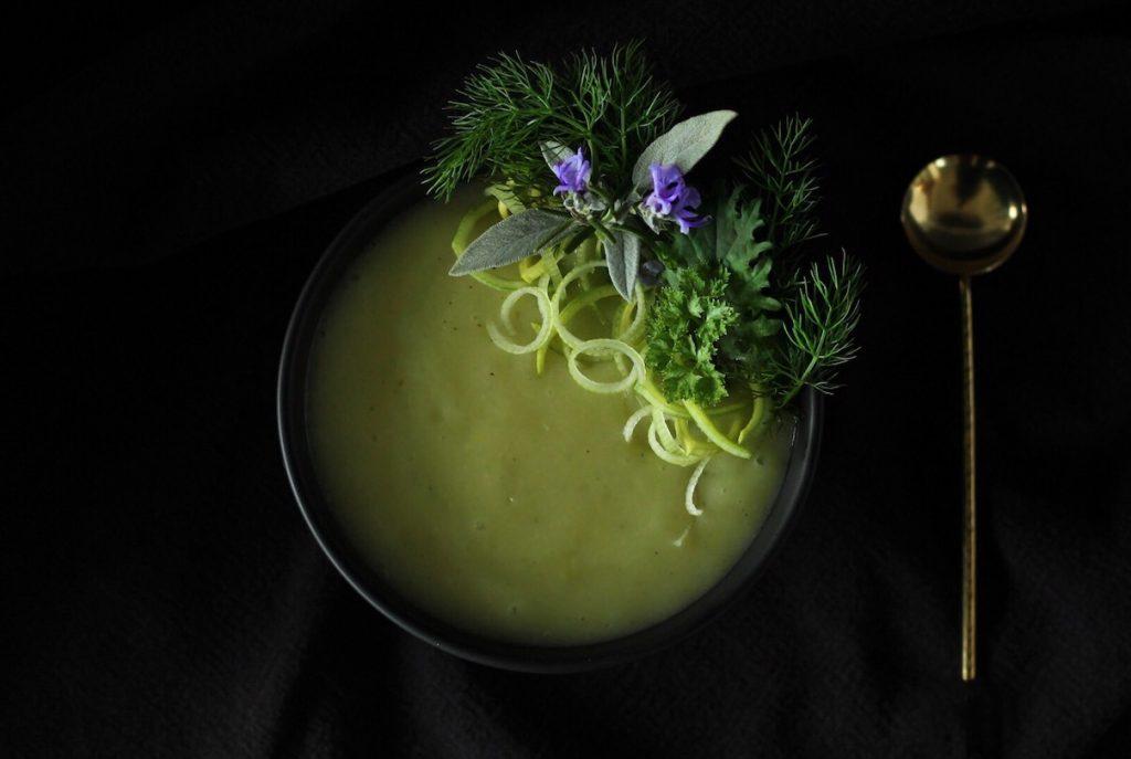 Potage Parmentier or Potato Leek Soup. Easy and vegetarian.