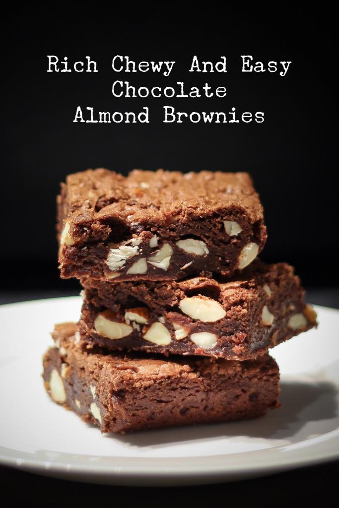 Rich Chocolaty One-Bowl Chocolate Almond Brownies