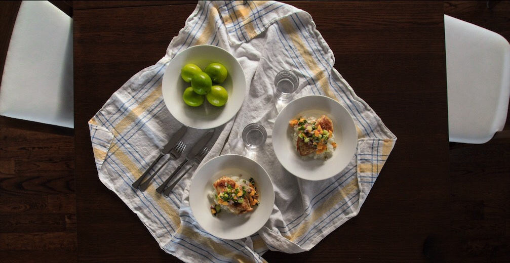 Easy Healthy Fruit Salsa Topped Grilled Chicken