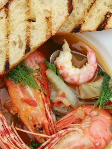 Fresh Easy Spot Prawn Recipe With Garlic Tomato And Fennel