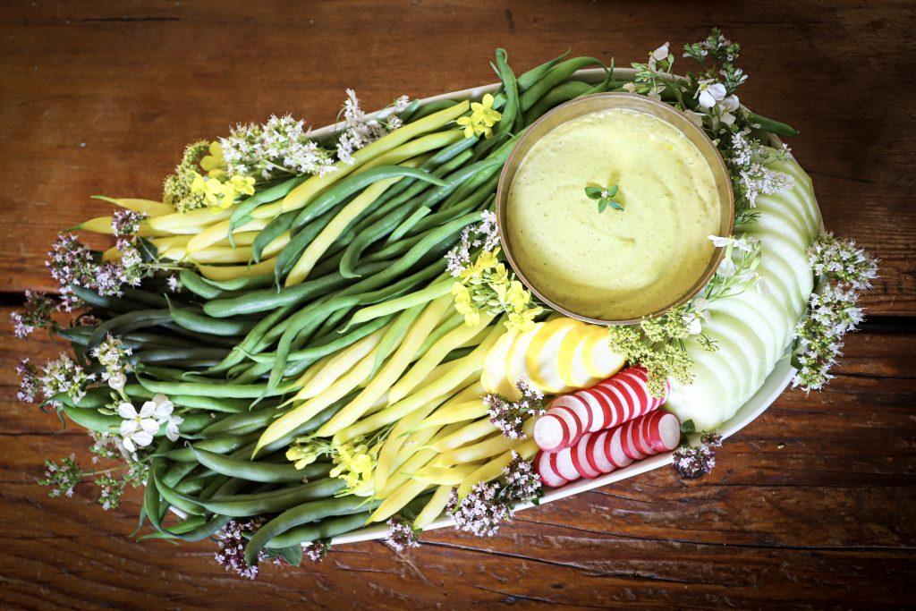 Basil Anchovy And Garlic Aioli Dip Recipe For Summer Veggies