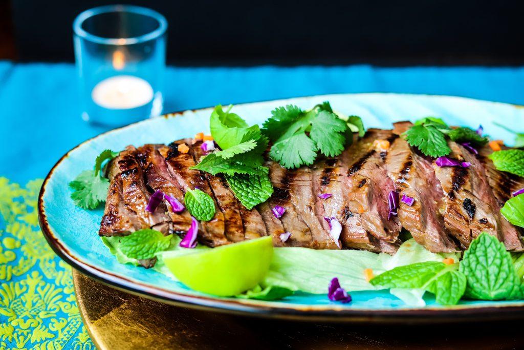Thai Flank Steak, Healthy and Lean
