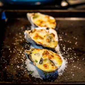 Broiled Oysters With Japanese Miso