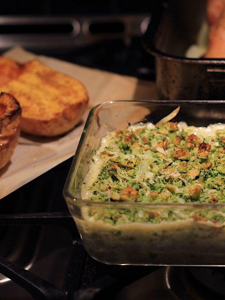Cauliflower Mushroom Gratin-Wild Mushroom Casserole Recipe
