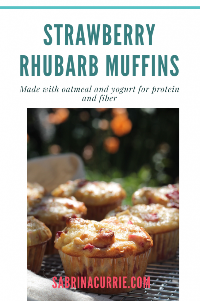 Strawberry Rhubarb Muffins-Healthy And Easy