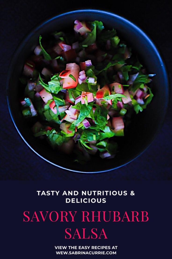 Savory Rhubarb Salsa Easy Recipe