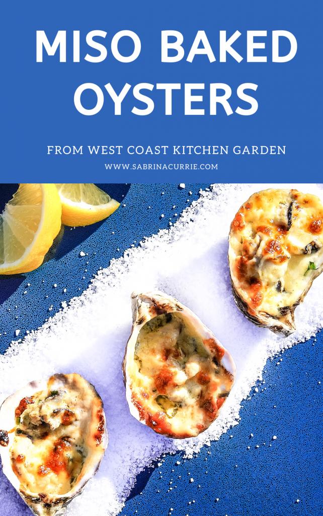 Miso Baked Oysters-(Japanese Oysters Rockelfeller)