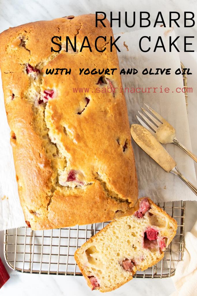 Rhubarb Olive Oil Cake Recipe