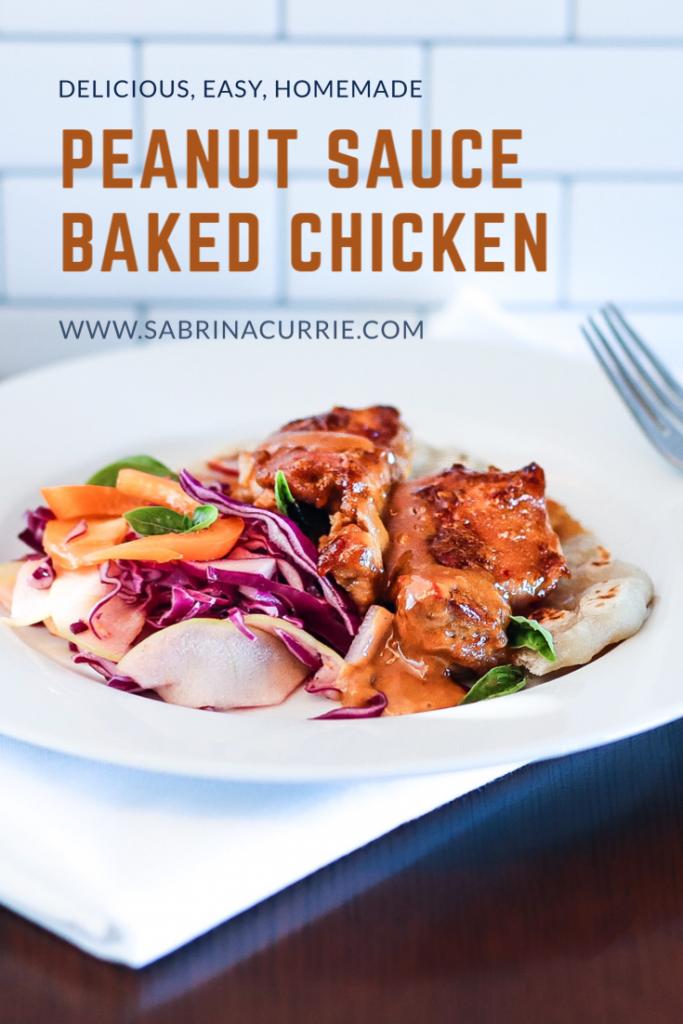 Peanut Sauce Baked Chicken Recipe Makes An Easy Fast Dinner