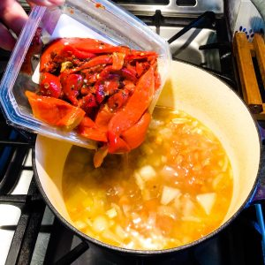 Fire Roasted Sweet Peppers Make the Best Soup!