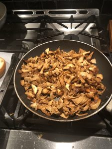 Brown Chanterelle Mushrooms In Butter