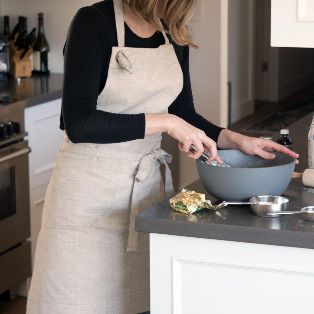 Natural fiber natural color apron from West Coast Kitchen Garden Shop