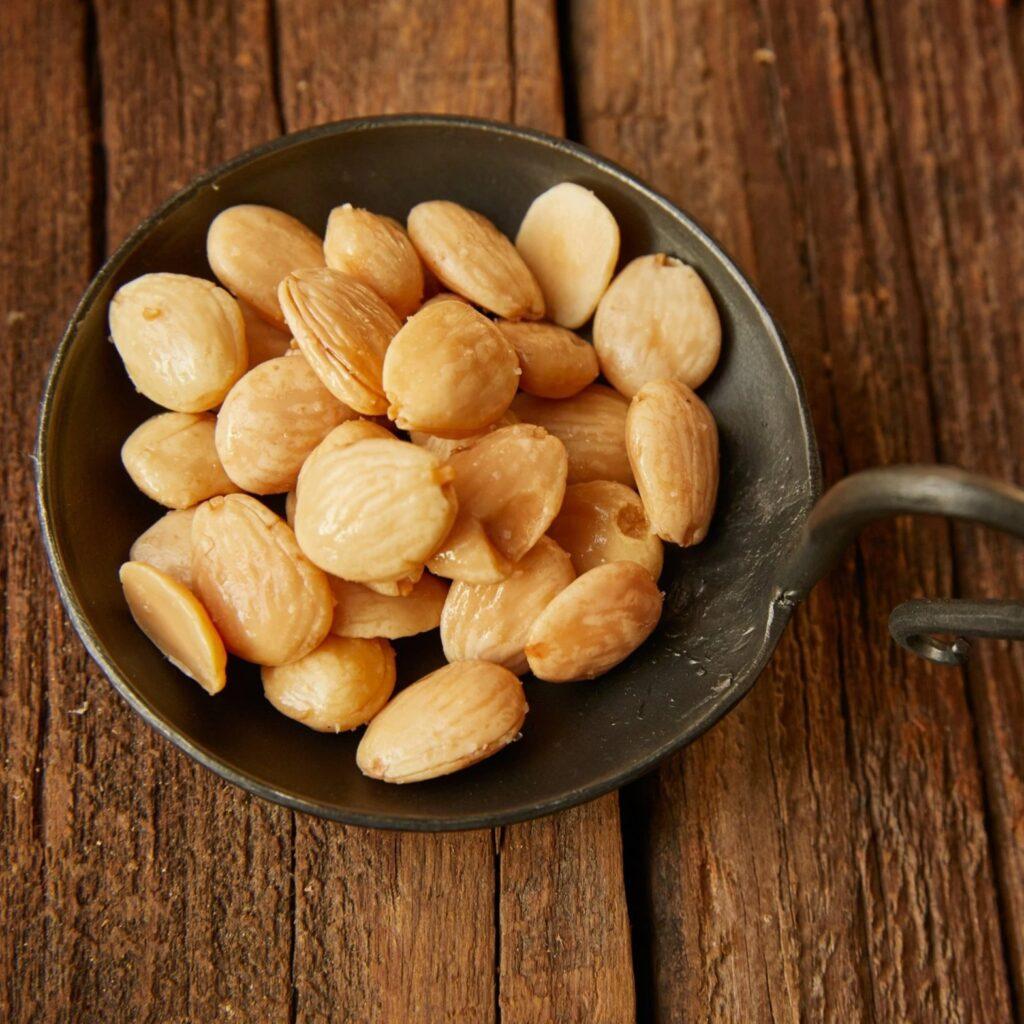 Nuts are a common food on mezze platters alongside mutabal