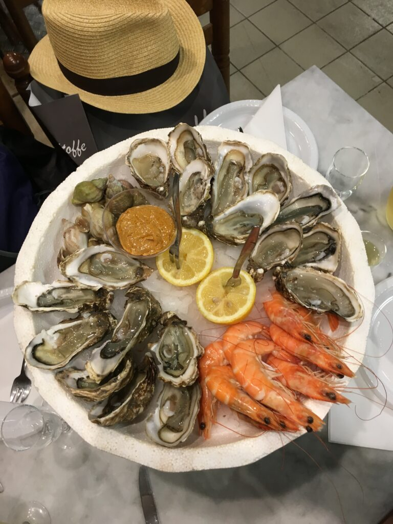 Seafood Tower in the Avignon Market, France