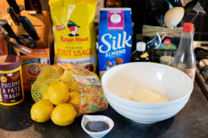 Pantry staples for vegan muffin recipe