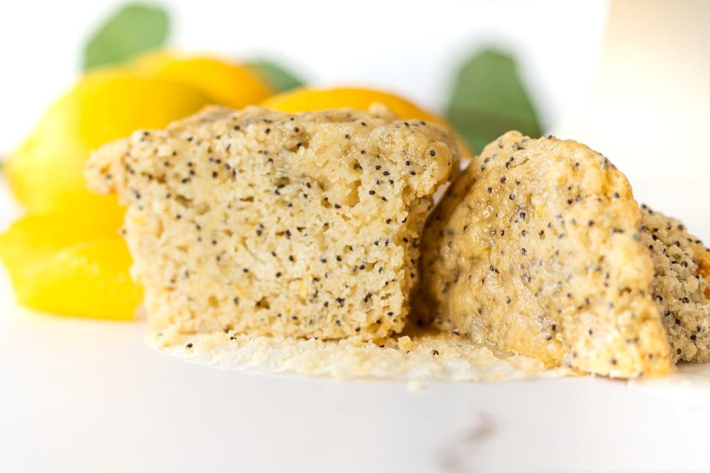 Vegan Lemon Muffins with Poppy Seeds or Blueberries
