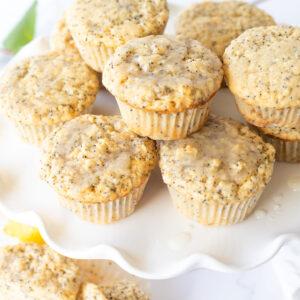 Tender Moist Dairy Free Lemon Poppyseed Muffins