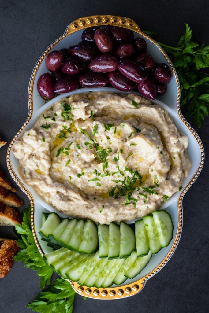 Mezze platter with muttabal