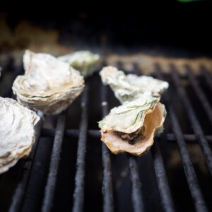 Oysters don't open as widely as clams and mussels when steamed.