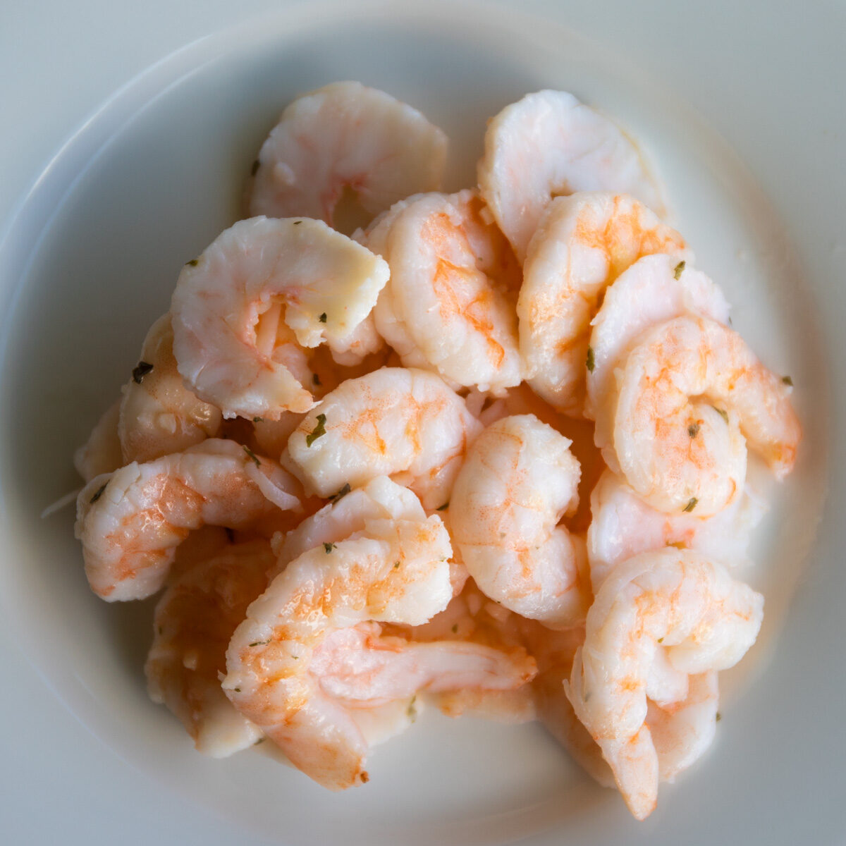 Marinated shrimp make salad rolls quick and easy